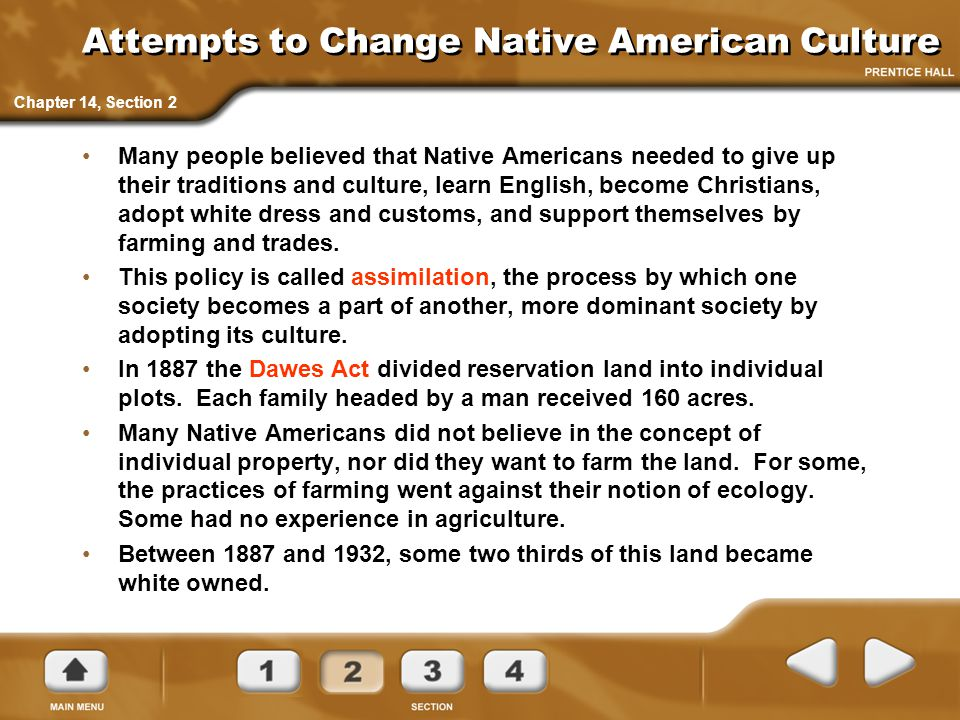 Attempts to Change Native American Culture