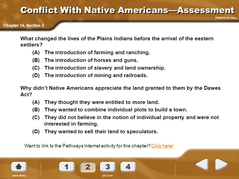 Conflict With Native Americans—Assessment