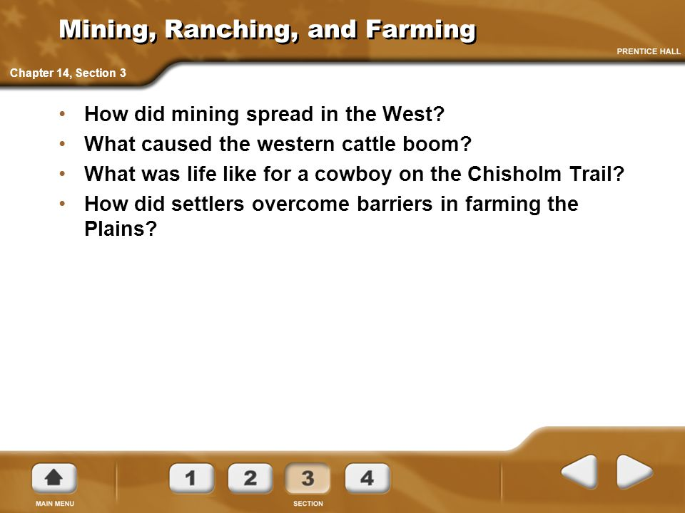 Mining, Ranching, and Farming
