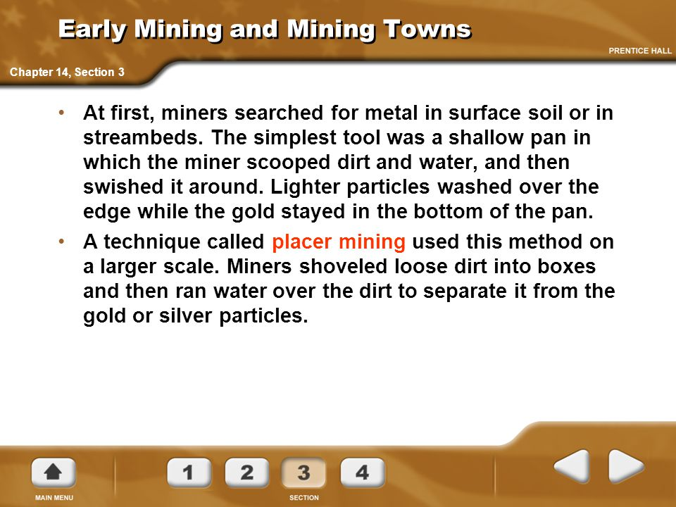 Early Mining and Mining Towns