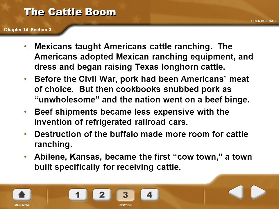The Cattle Boom Chapter 14, Section 3.