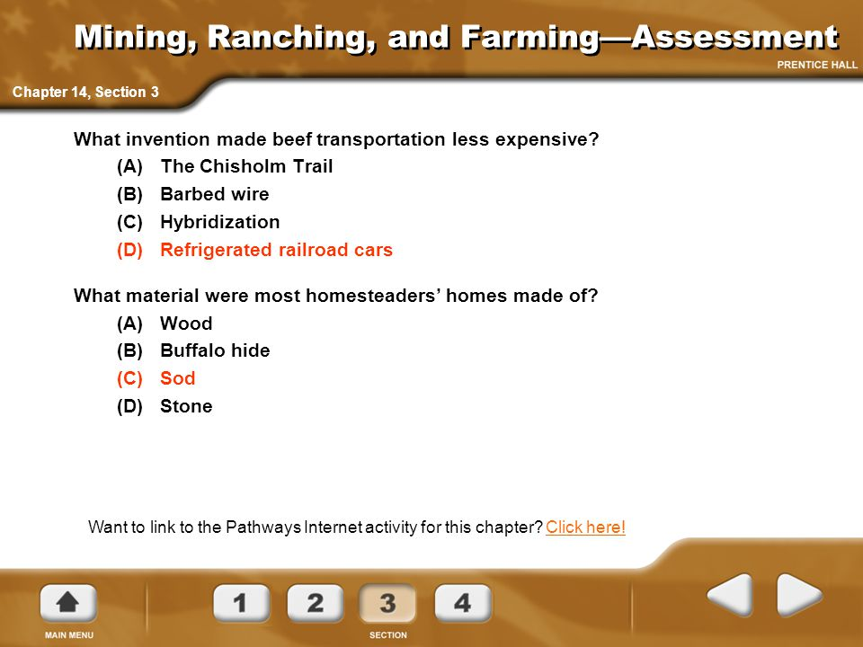 Mining, Ranching, and Farming—Assessment