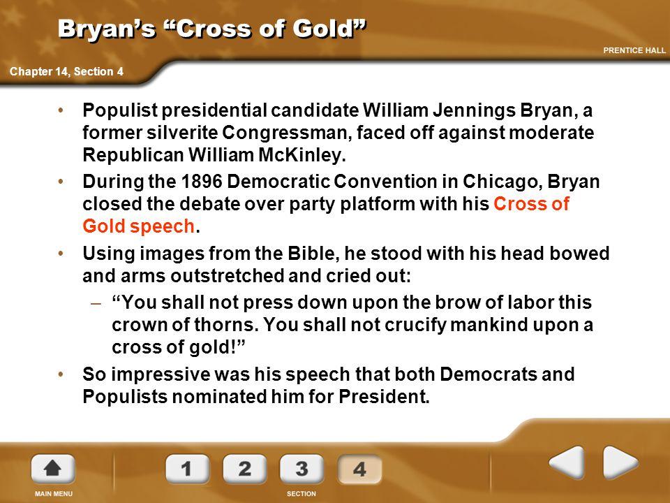 Bryan's Cross of Gold
