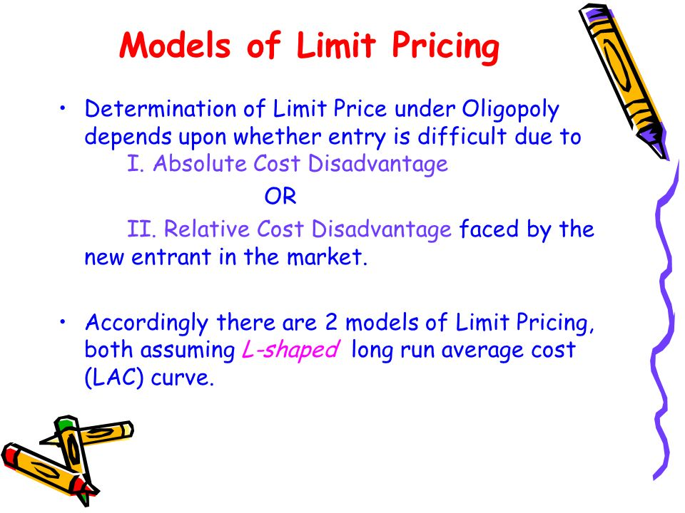 Models of Limit Pricing