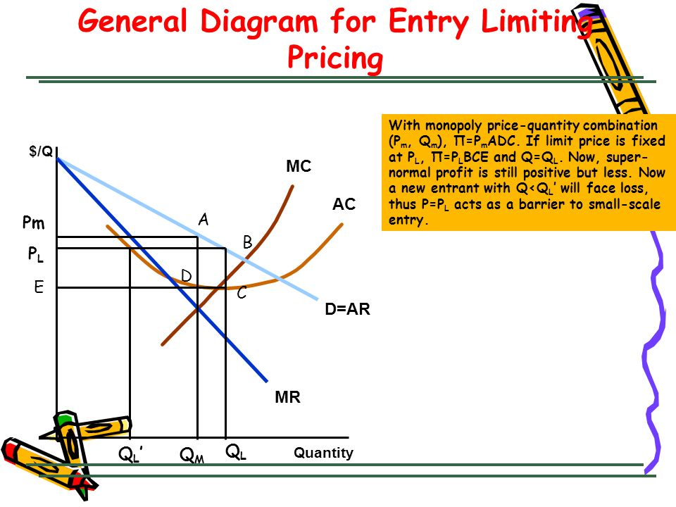 General Diagram for Entry Limiting Pricing