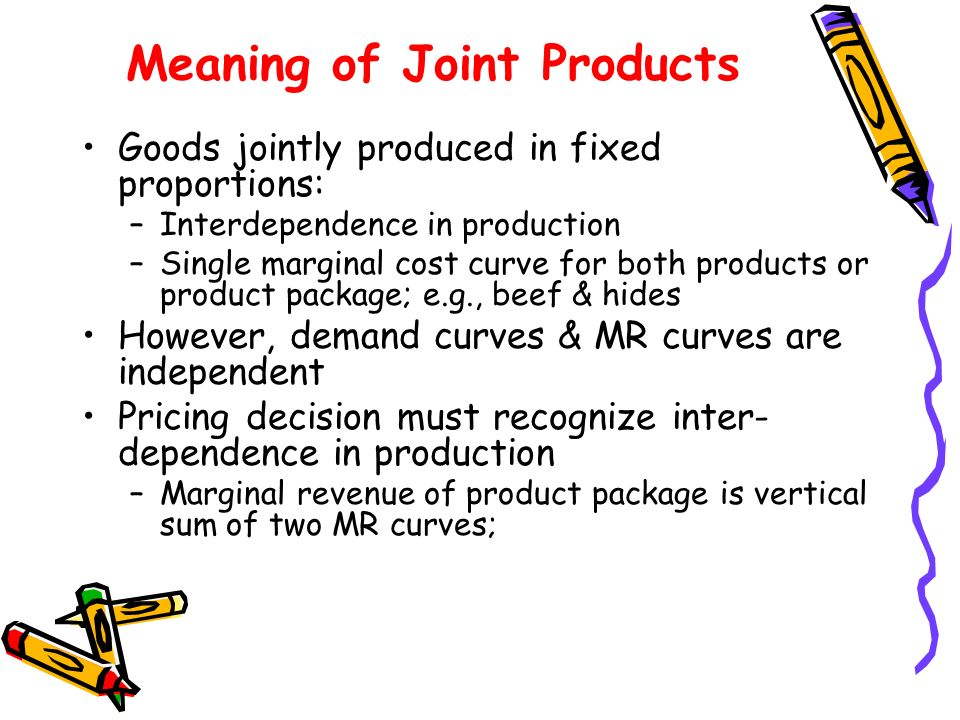 Meaning of Joint Products