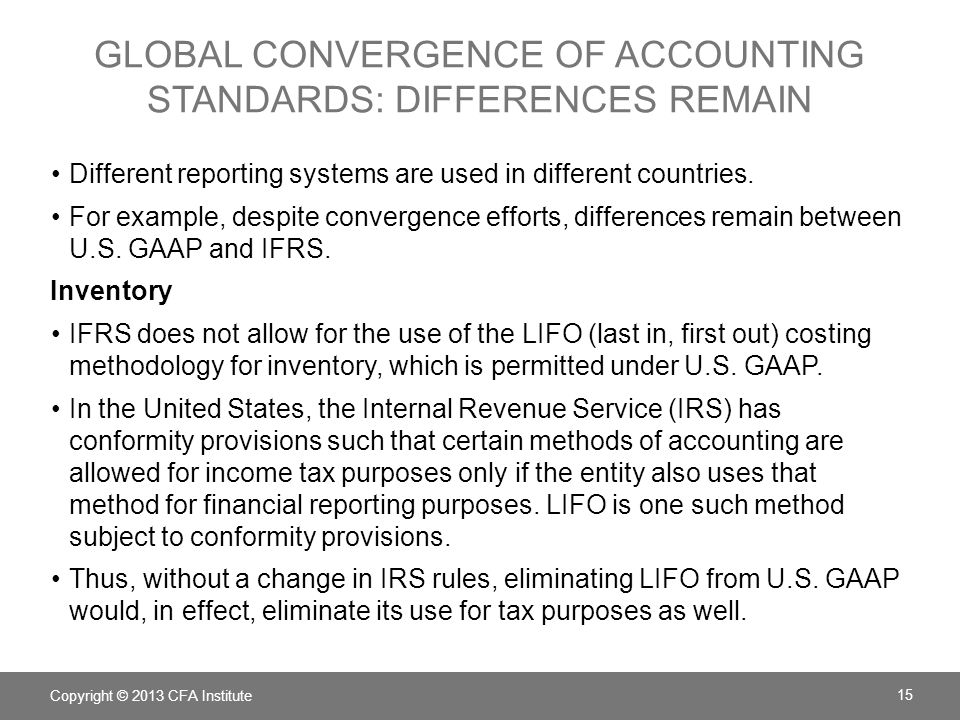 global convergence of accounting standards: Differences remain