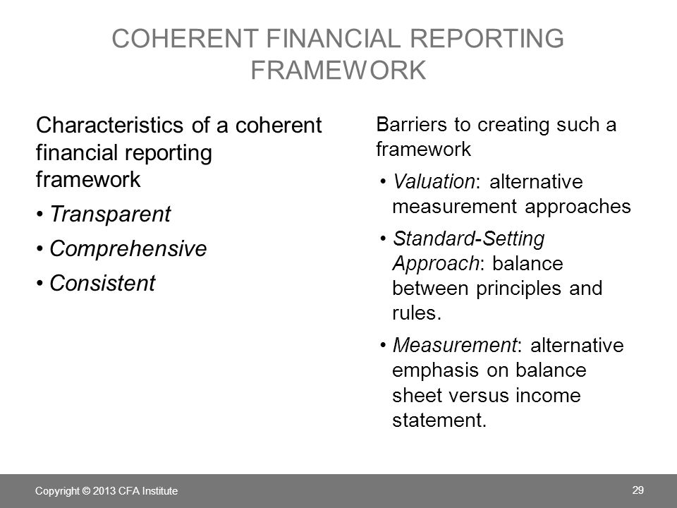 coherent financial reporting framework