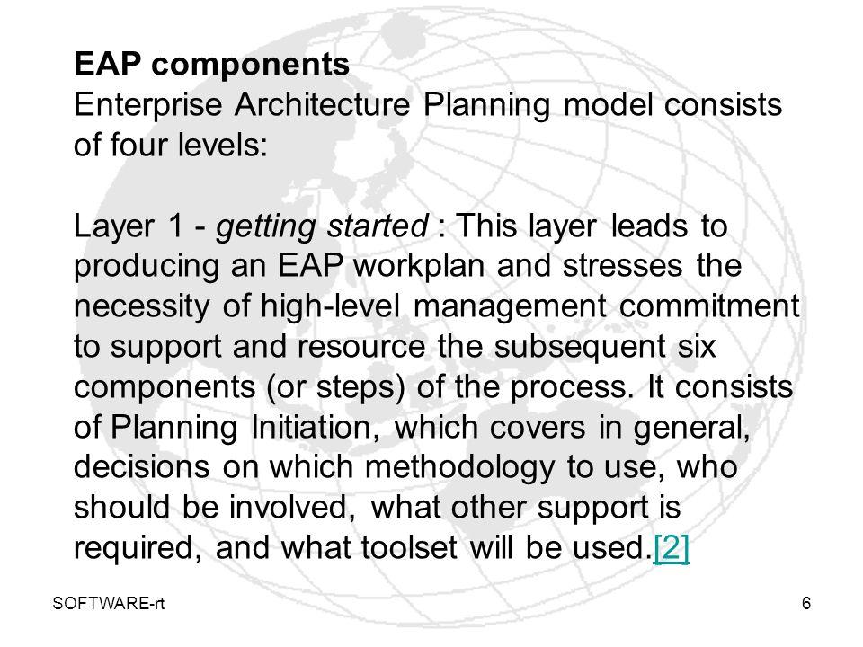 Enterprise Architecture Planning model consists of four levels: