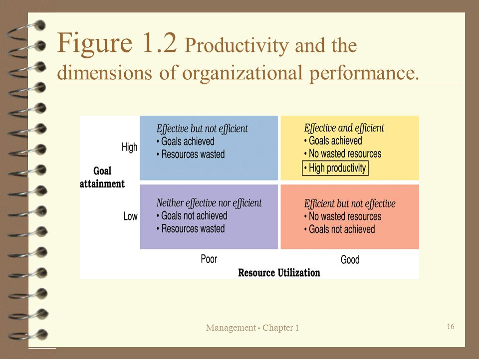 Figure 1.2 Productivity and the dimensions of organizational performance.