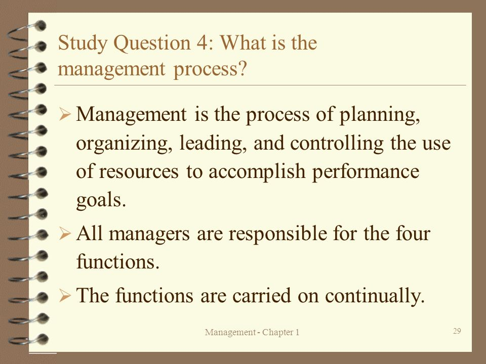 an analysis of the importance of management planning organizing leading and controlling Video: four functions of management: planning, organizing, leading & controlling a person who holds a management position inside an organization is required to think strategically and.