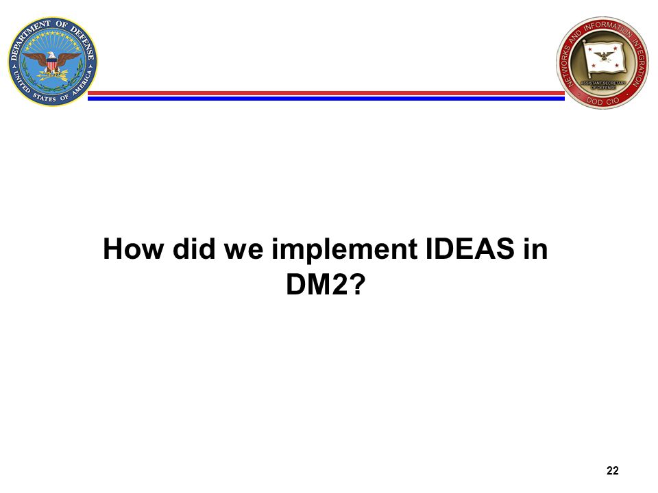 How did we implement IDEAS in DM2