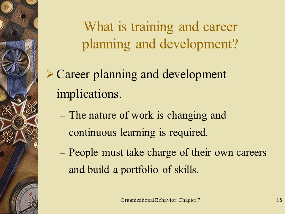What is training and career planning and development