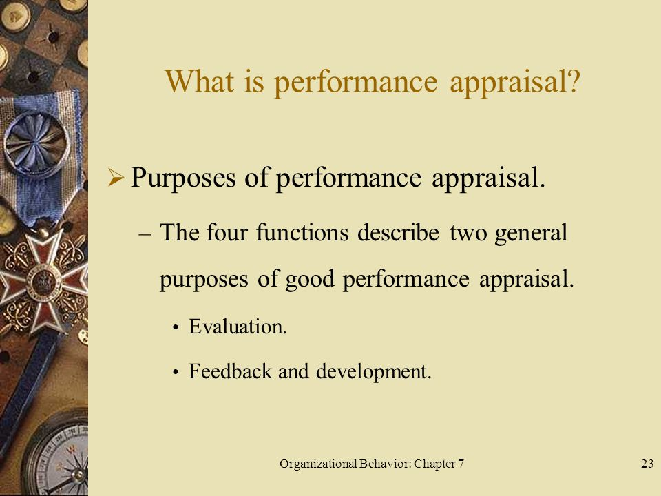 What is performance appraisal