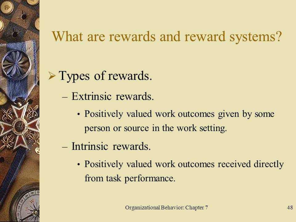 What are rewards and reward systems
