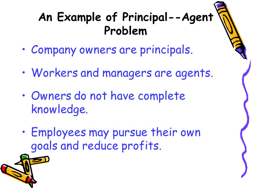An Example of Principal--Agent Problem