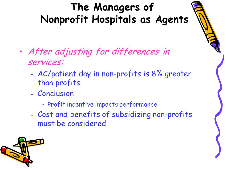 The Managers of Nonprofit Hospitals as Agents