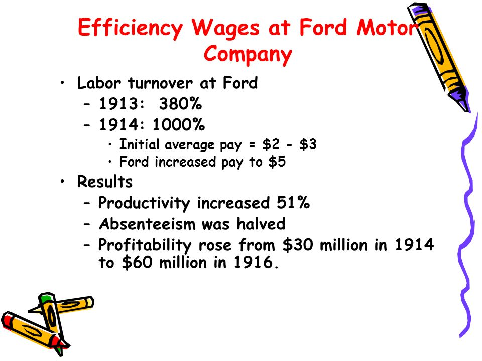 Efficiency Wages at Ford Motor Company