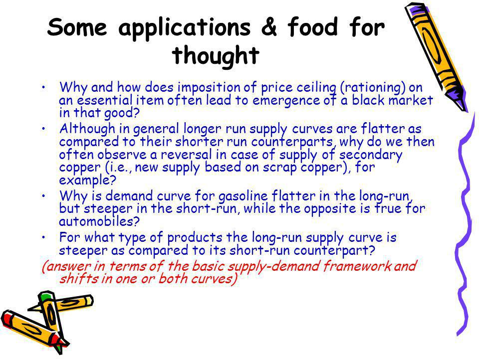 Some applications & food for thought