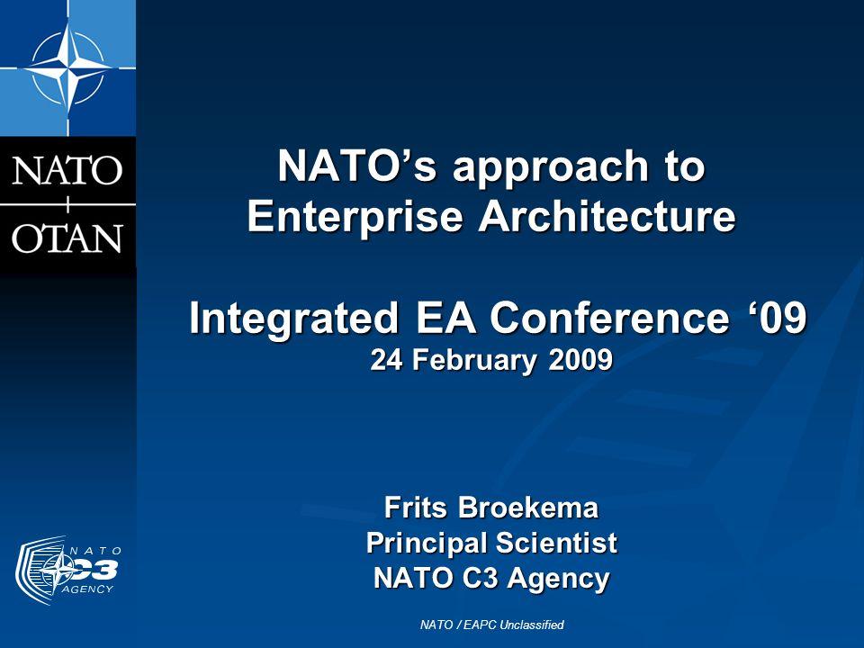 Frits Broekema Principal Scientist NATO C3 Agency