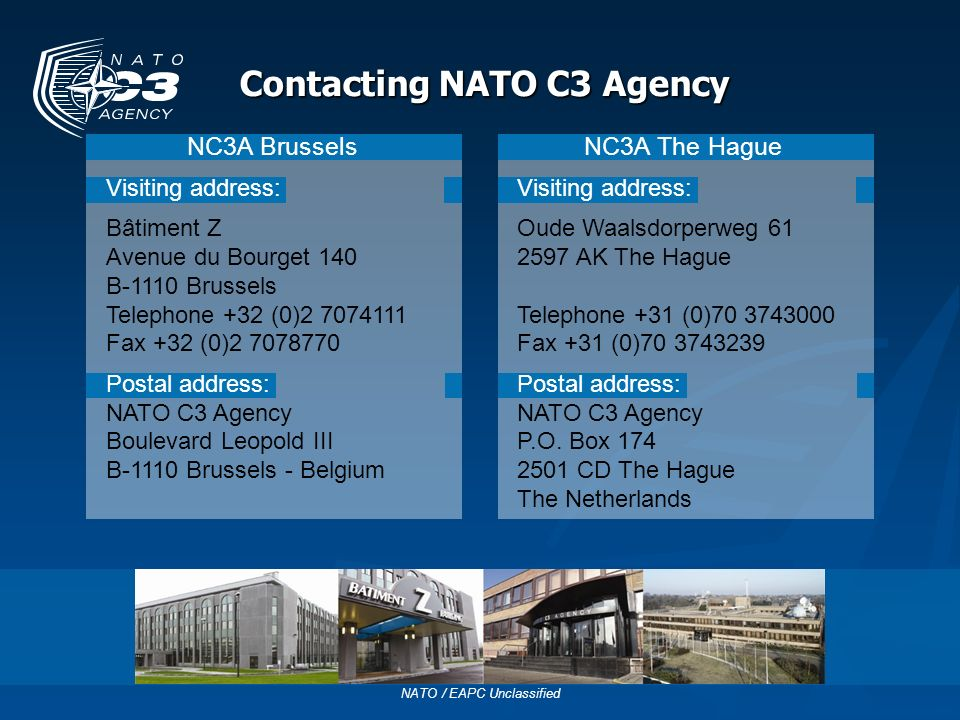 Contacting NATO C3 Agency