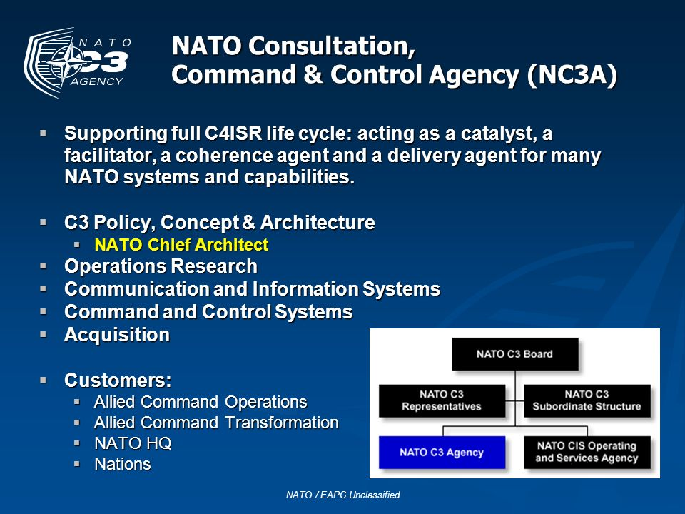 NATO Consultation, Command & Control Agency (NC3A)