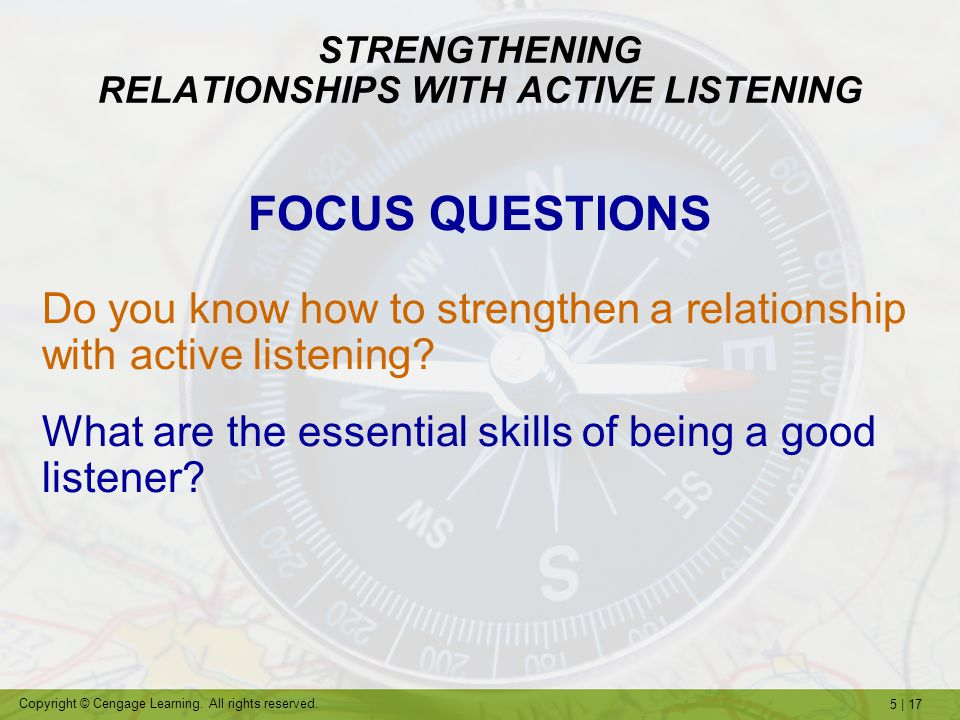 STRENGTHENING RELATIONSHIPS WITH ACTIVE LISTENING