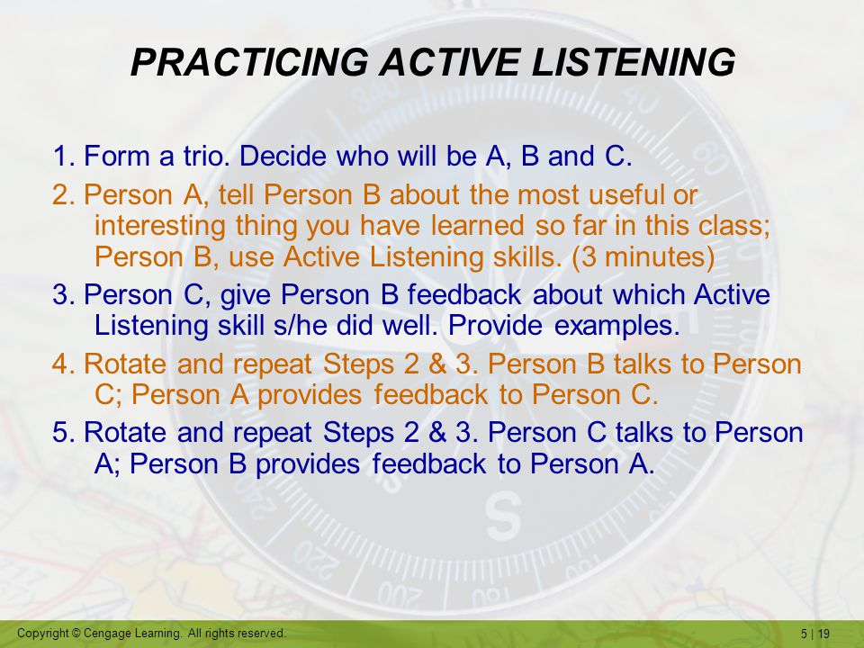 PRACTICING ACTIVE LISTENING