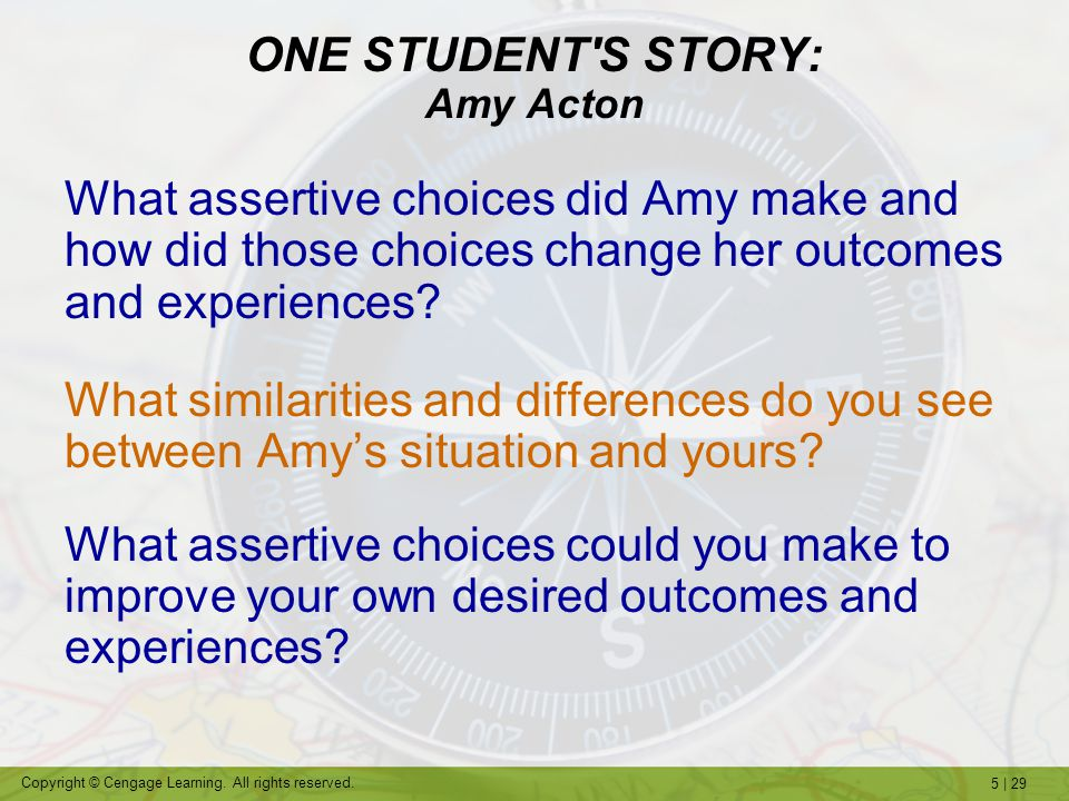 ONE STUDENT S STORY: Amy Acton