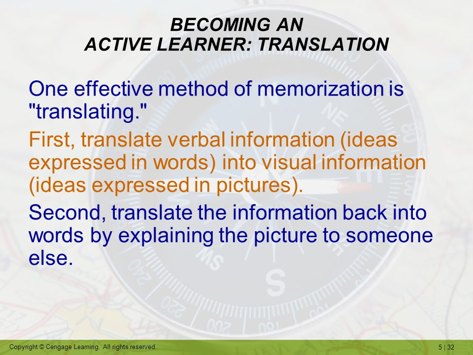 BECOMING AN ACTIVE LEARNER: TRANSLATION