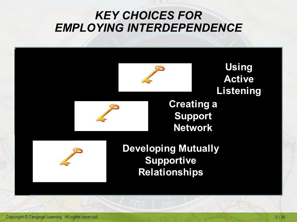 KEY CHOICES FOR EMPLOYING INTERDEPENDENCE