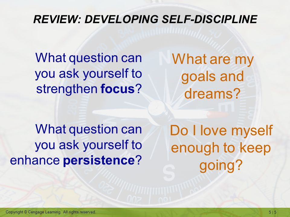 REVIEW: DEVELOPING SELF-DISCIPLINE