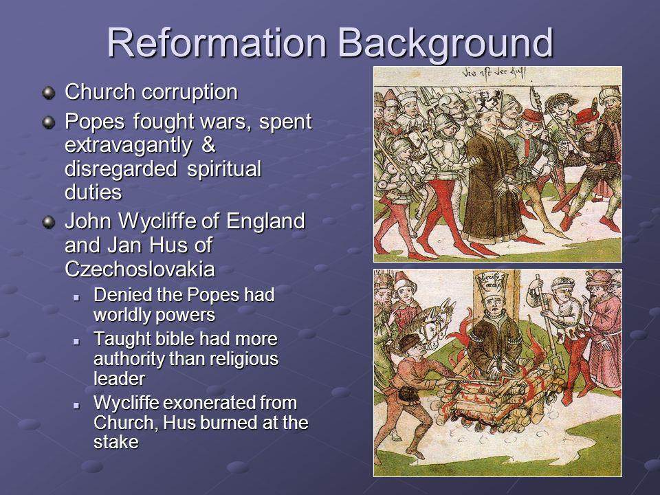 Reformation Background