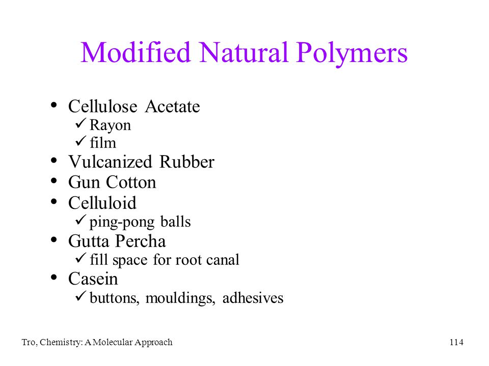 Modified Natural Polymers