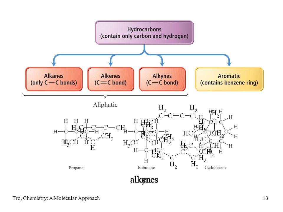 alkynes alkanes alkenes Tro, Chemistry: A Molecular Approach