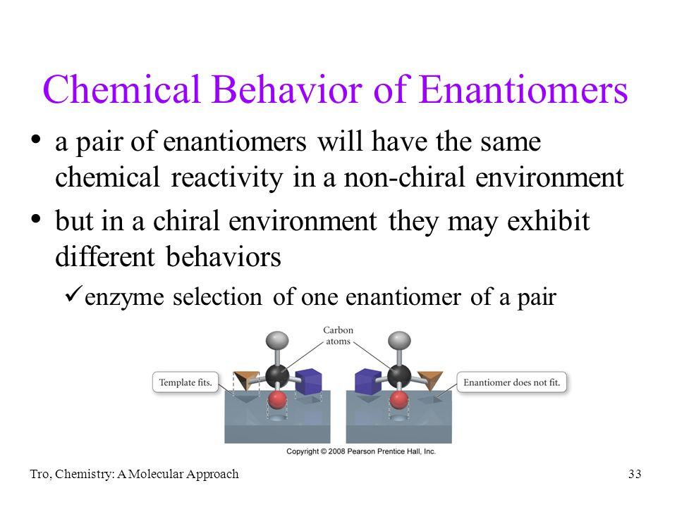 Chemical Behavior of Enantiomers