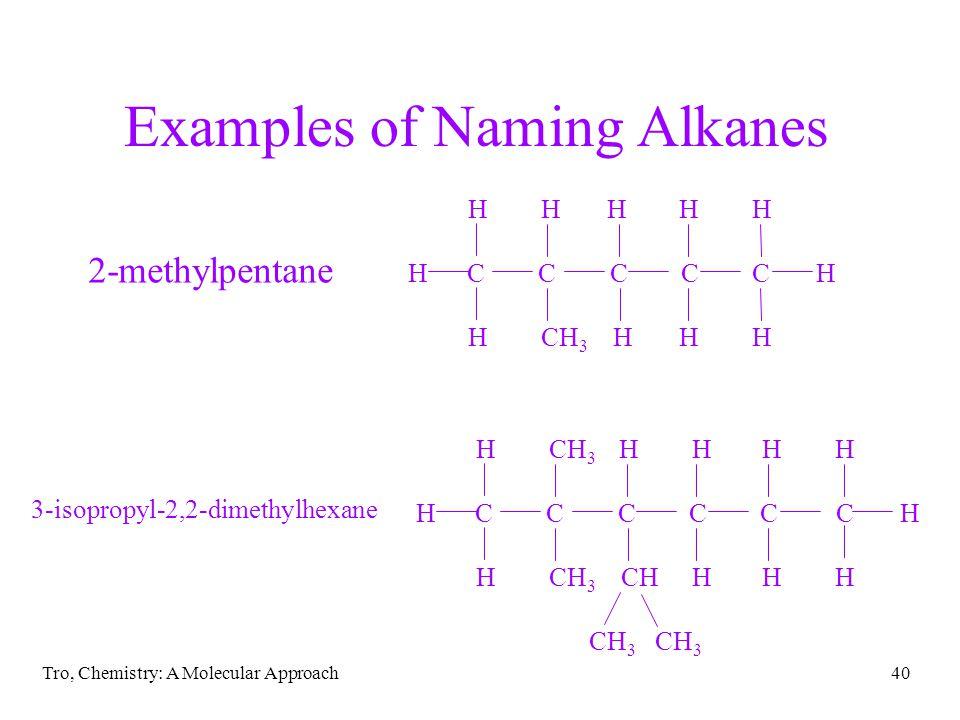 Examples of Naming Alkanes