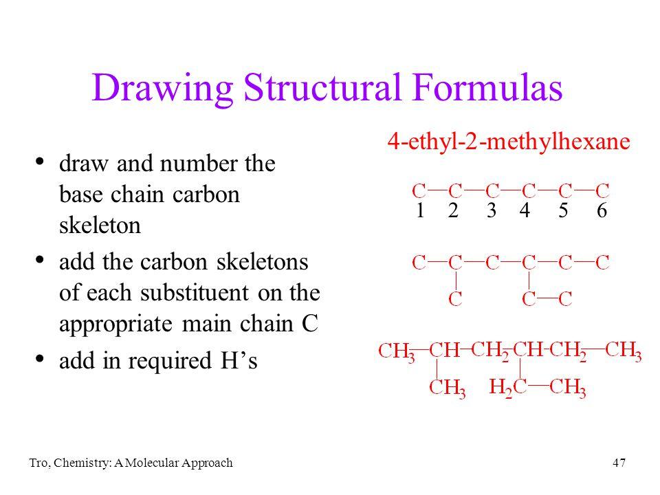 Drawing Structural Formulas