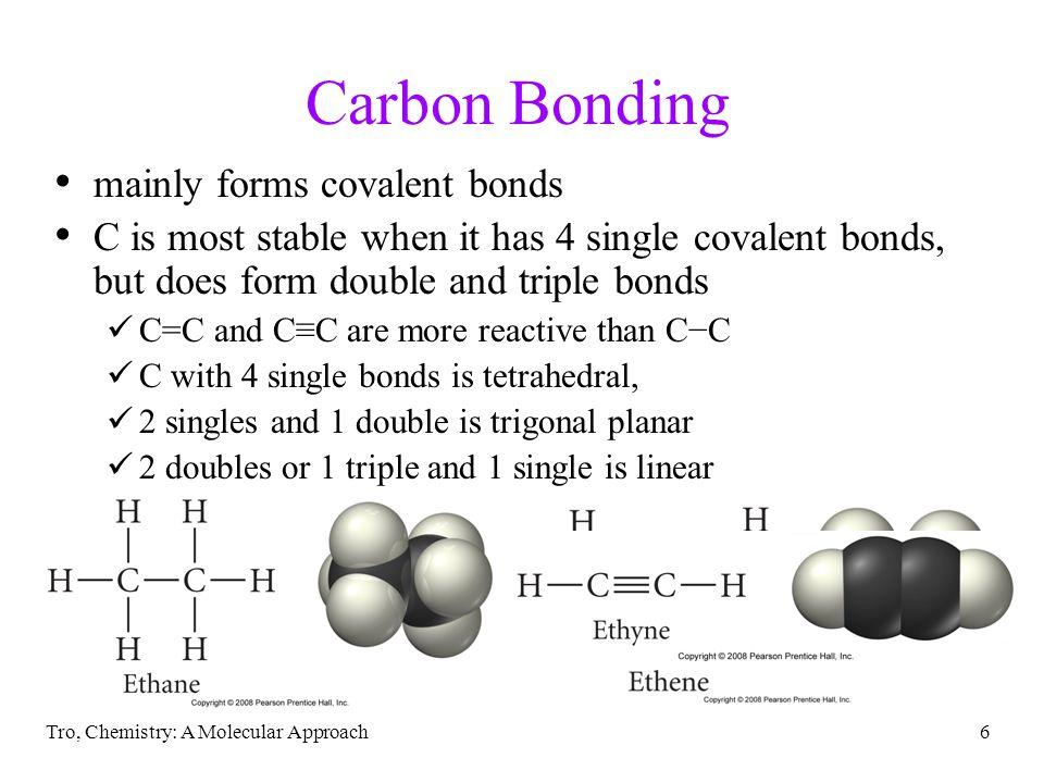 Carbon Bonding mainly forms covalent bonds