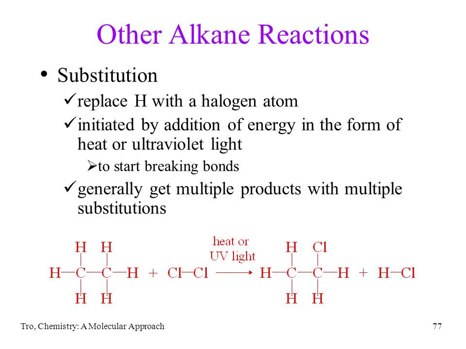 Other Alkane Reactions