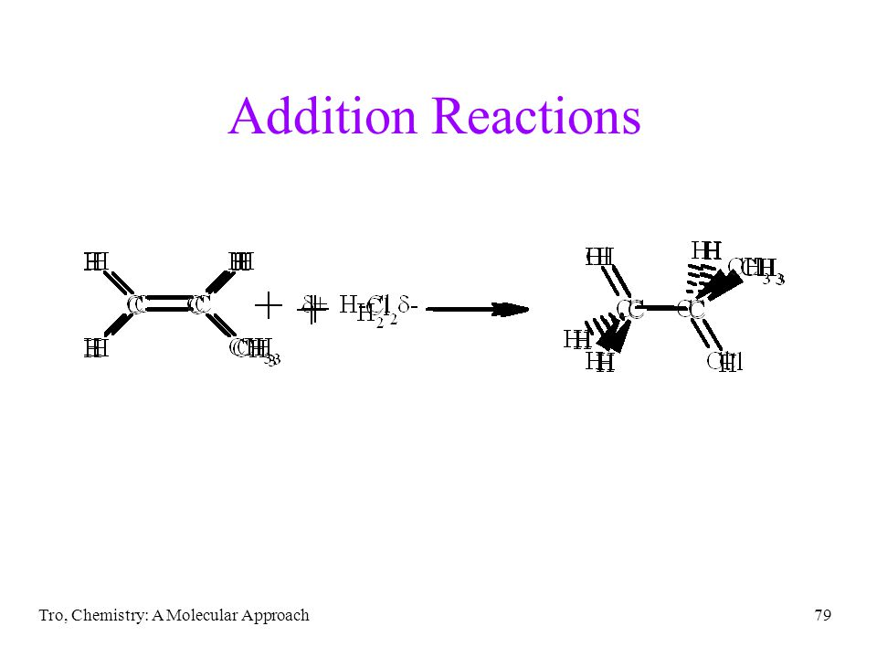 Addition Reactions Tro, Chemistry: A Molecular Approach