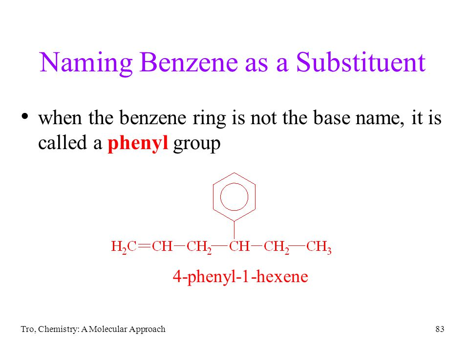 Naming Benzene as a Substituent