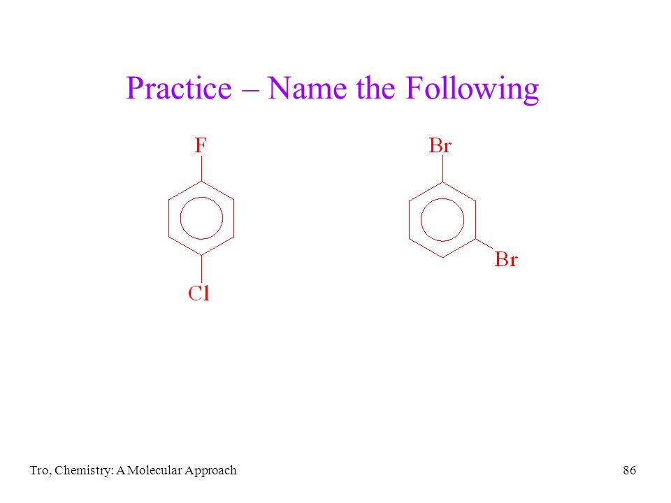 Practice – Name the Following