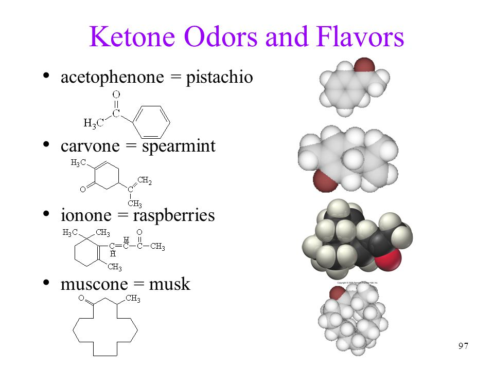 Ketone Odors and Flavors