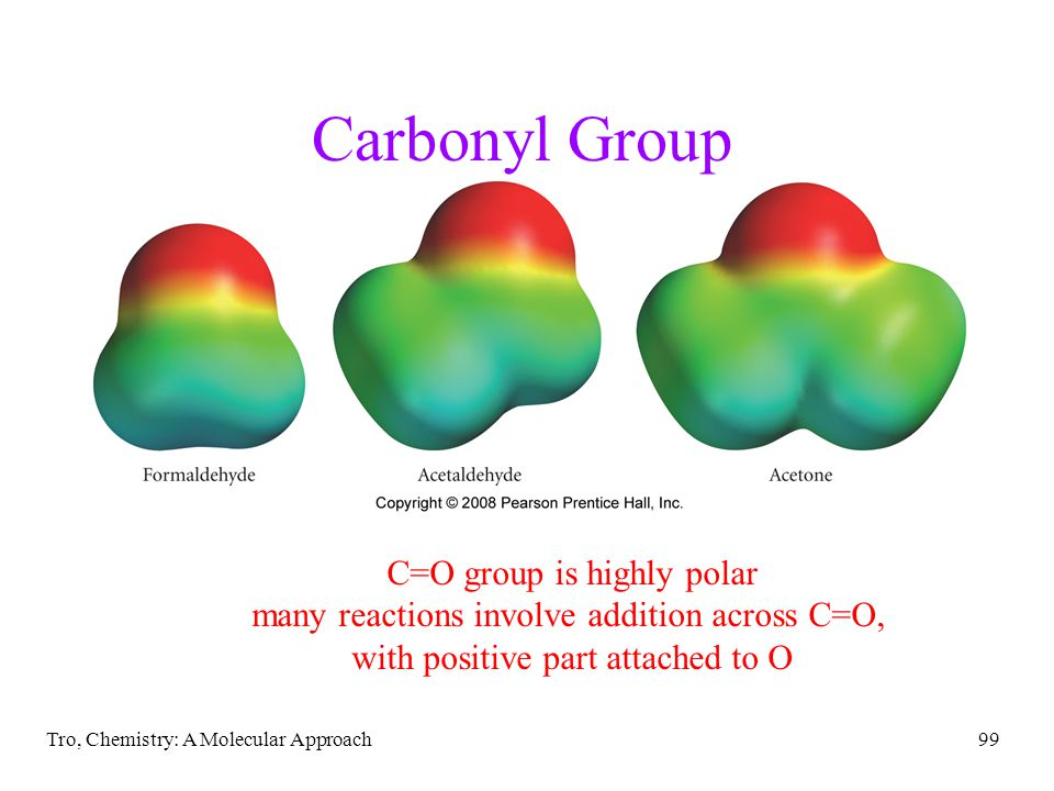 Carbonyl Group C=O group is highly polar