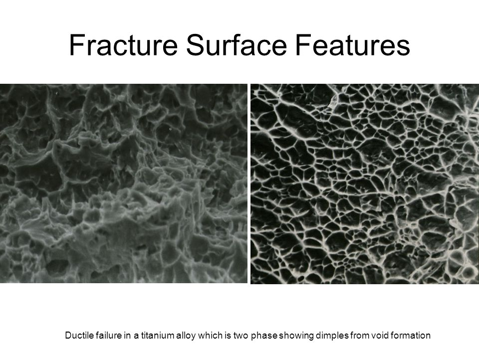Fracture Surface Features