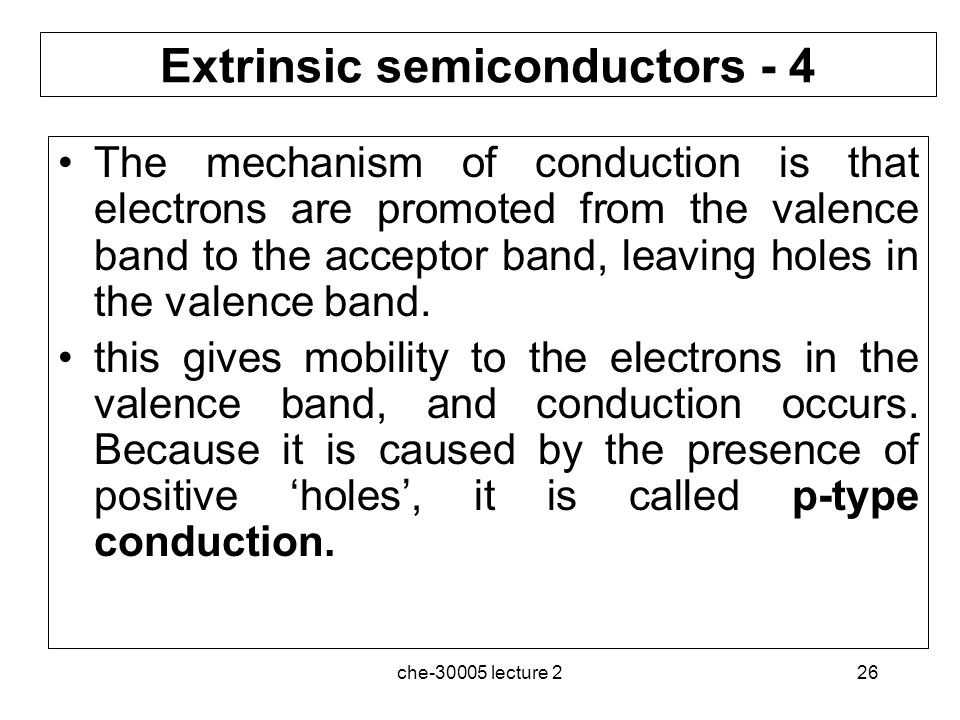 Extrinsic semiconductors - 4