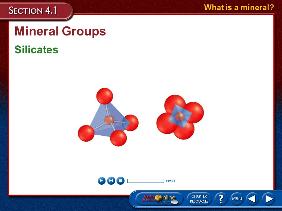 What is a mineral Mineral Groups Silicates