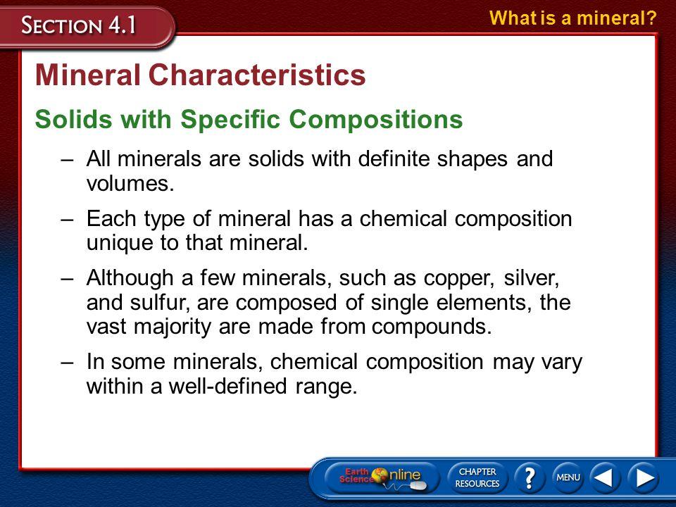 Mineral Characteristics