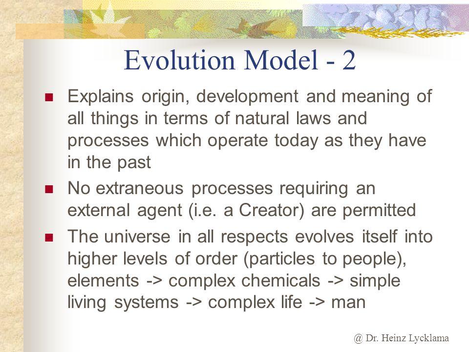 Evolution Model - 2